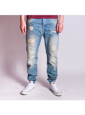 Blugi VSCT Noah Cuffed New Vintage Sunfaded Blue