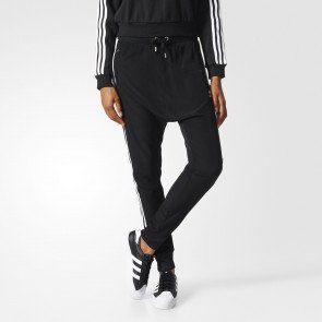 Pantaloni trening adidas Originals Drop Crotch Negri