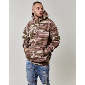 Hanorac C&s BL Pleated Loose Fit Camo Bej