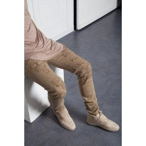 Jeansi Sixth June Denim Destroyed Inside Patches Sand