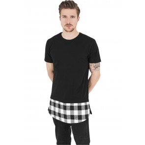 Tričko Urban Classic Long Shaped Flanell Bottom Tee Black