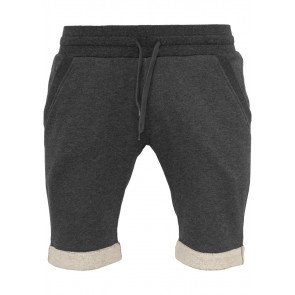 Kraťasy Urban Classics Light Turnup Sweatshorts Charcoal