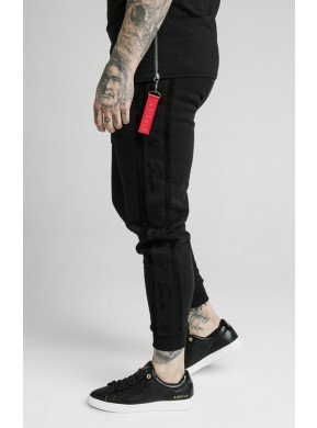SIKSILK FITTED SUEDED FLOCK CUFF PANTS