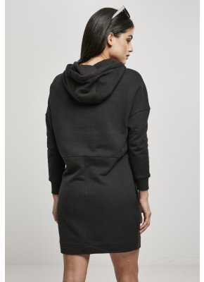 URBAN CLASSICS LADIES ORGANIC OVERSIZED TERRY HOODY DRESS BLACK